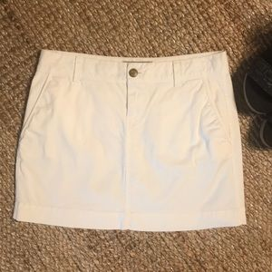 White mini skirt!
